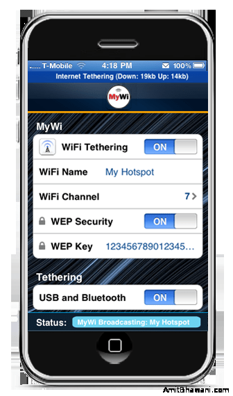 Tether iPhone internet to iPad using WiFi Application