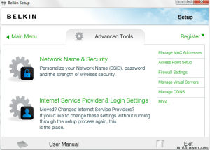 Network Setup Advanced Tools
