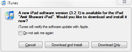 Update Apple iPad Firmware