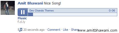 Music File FaceBook Embed