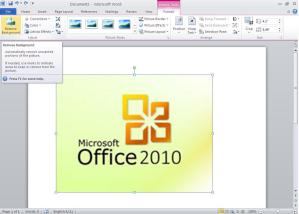 How to extract background from any image in Office 2010