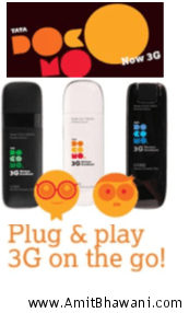 TATA DOCOMO 3G Data Cards, Modem Prices and Features