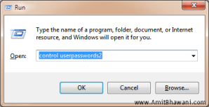 Automatically User Log On to Windows 7 Computer