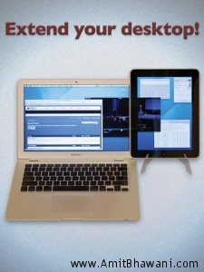 Apple iPad as Extended Desktop Display with Wireless Sharing