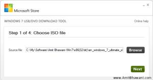 Windows USB DVD Choose ISO