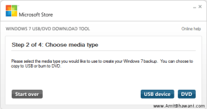Windows USB DVD Choose Media Type