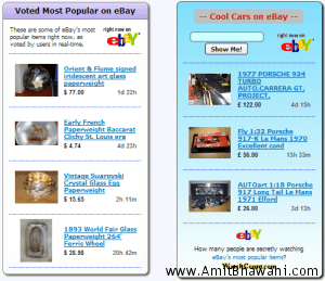 How do i display latest eBay Sale listings on Blog Sidebar or within Posts