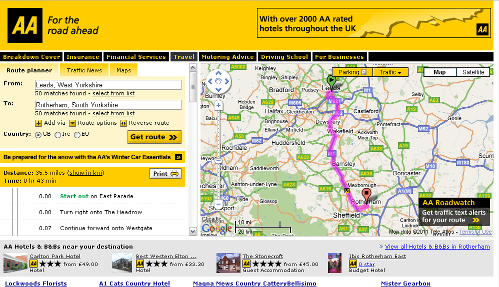 Aa auto route planner