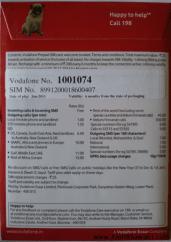 Vodafone MNP Pack Back