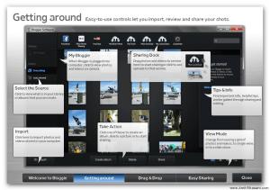 Bloggie Touch Software Interface