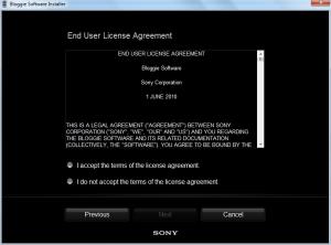 Sony Bloggie EULA Accept
