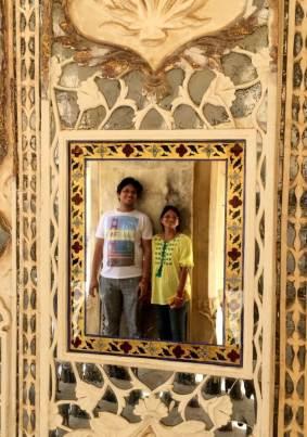 Reflection at Seesh Mahal