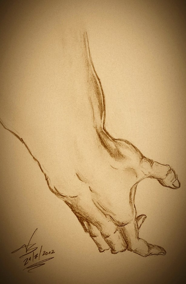 hand pencil drawing