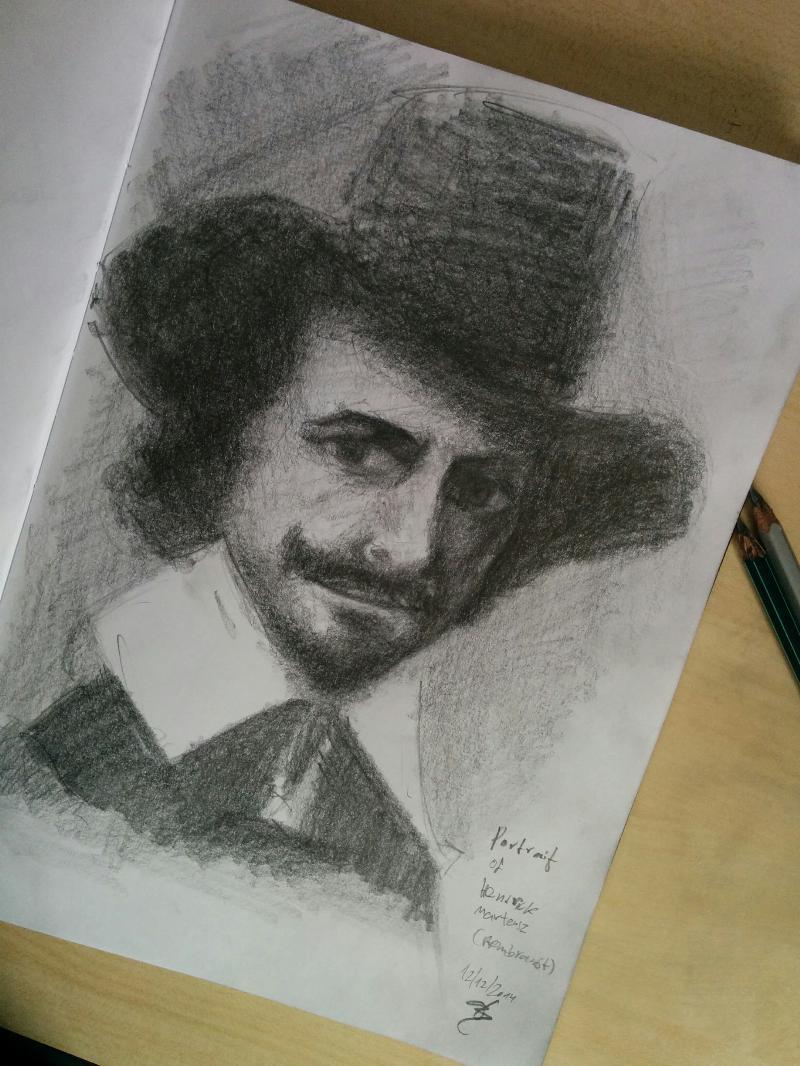 ציור פנים בהשראתו של צייר הפורטרטים הידוע רמרנדט