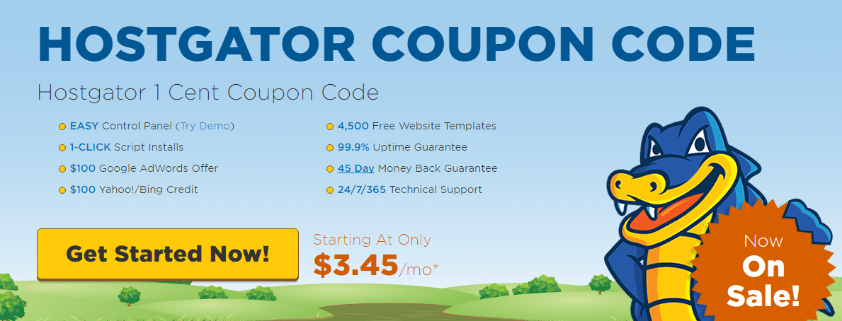 Hostgator Cent Coupon August Only First Month - Hostgator website templates