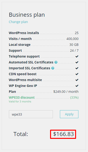 wpengine pricing business