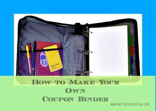 how to make a coupon binder a mitten full of savings michigan