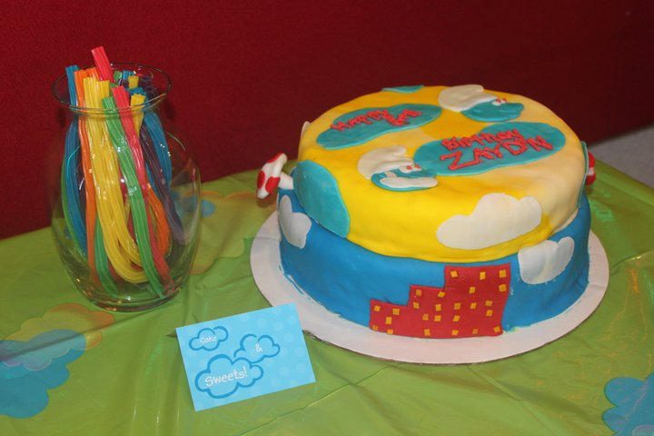 smurf cake and sweets