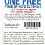 Sears Outlet: Free Kids' Apparel! Today Only