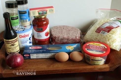 spaghetti bake process ingredients