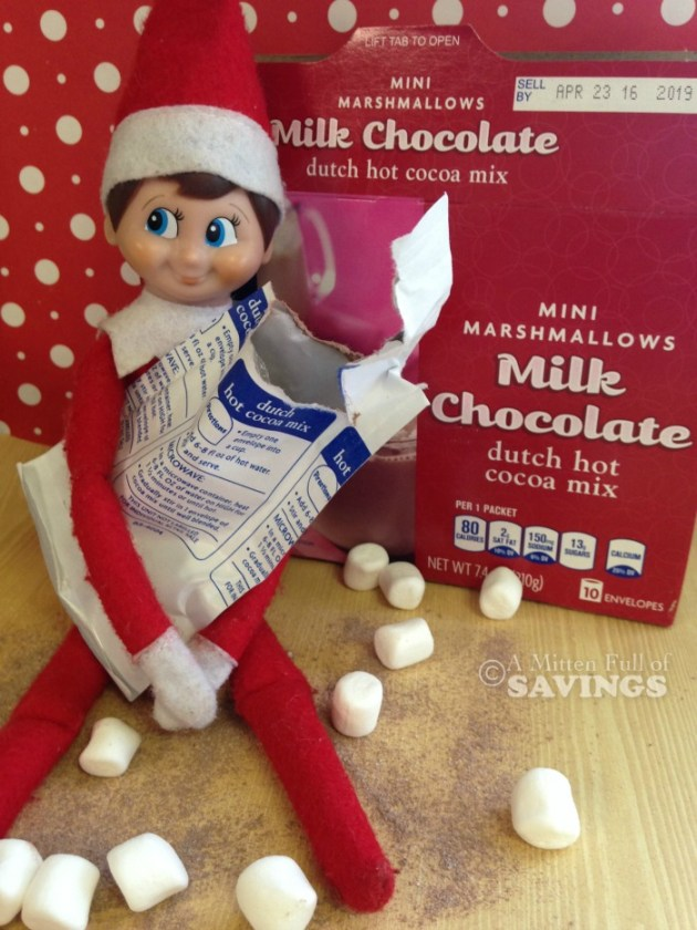 Elf on the Shelf Idea- Let's make some hot chocolate with Elfie