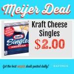 Meijer: Kraft Sliced Cheese $2.00 This Week