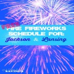 FREE Firework Schedule in Mid Michigan {Lansing & Jackson}