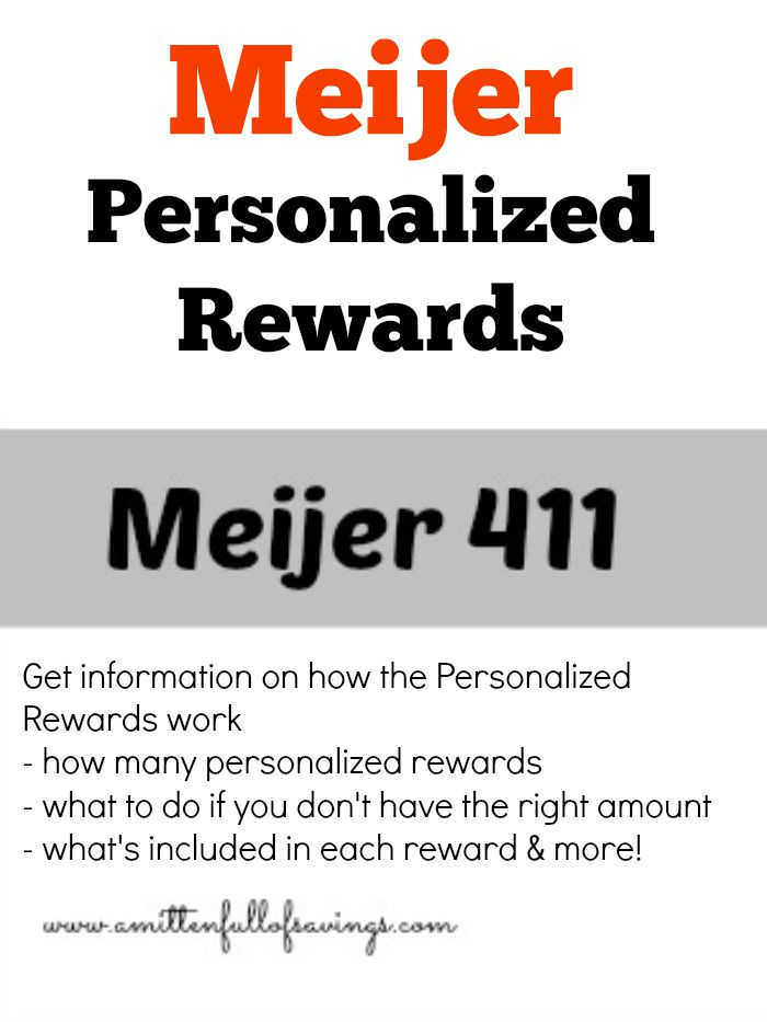 Meijer Personalized Rewards : How They Work, How Many Should You Have