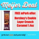 FREEBIE at Meijer with mPerk Code : Hershey's Cookie Layer Crunch Caramel