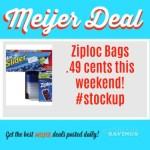 Meijer: Ziploc Bags Just .49 cents #stockup