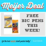 Meijer: FREE BIC Stationary Products