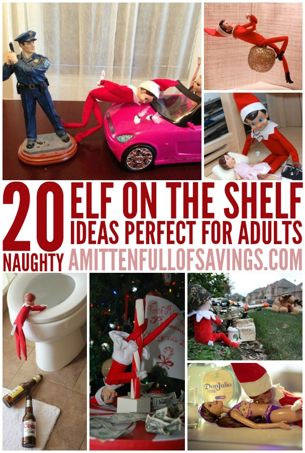 20 Naughty Elf on the Shelf Ideas for Adults   This Worthey Life