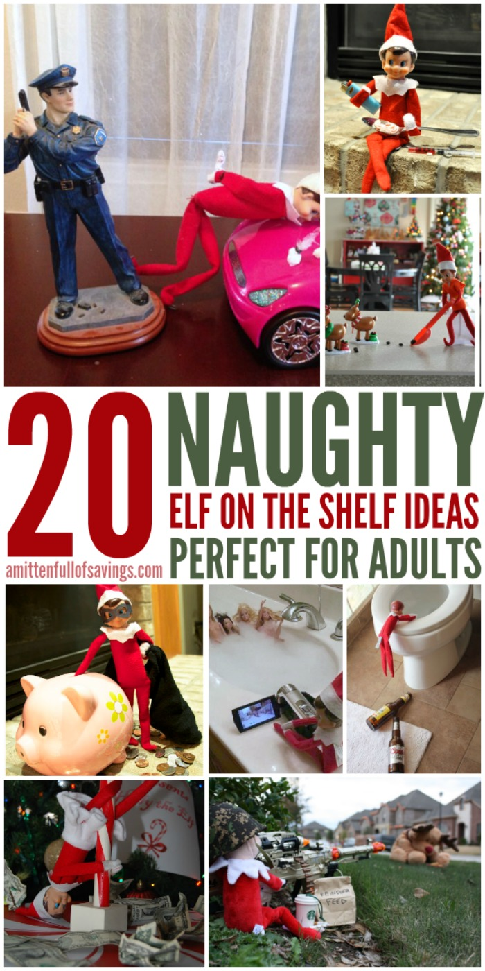 20 Naughty Elf on the Shelf Ideas for Adults - This Worthey Life