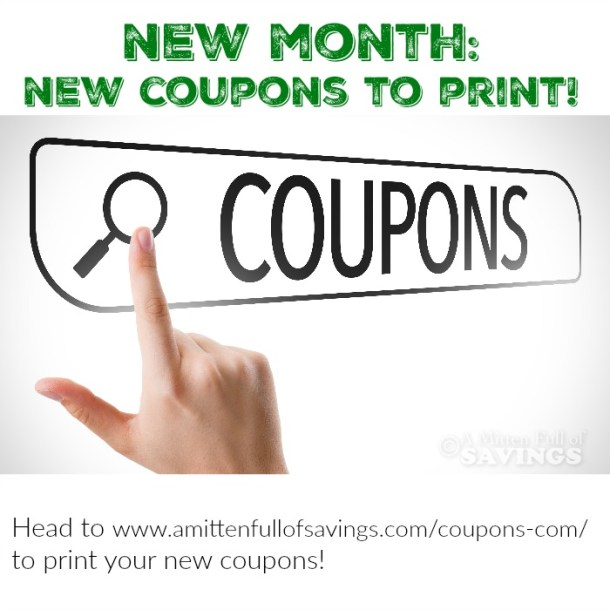 New Month New Coupons To Print