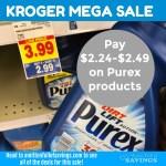 Kroger MEGA: Grab Purex Crystals + Liquid Detergent as low as $2.24