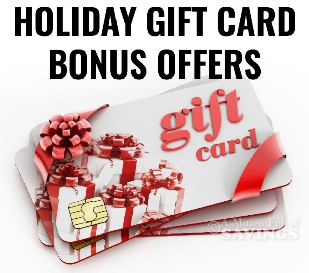 Holiday Gift Card and Bonus Offers for Restaurants and Retailers