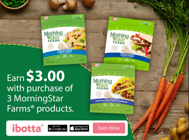 Ibotta Offer: Ibotta Offer: Buy 3 MorningStar Farms, Earn $3