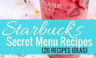 Starbucks Secret Menu Recipes