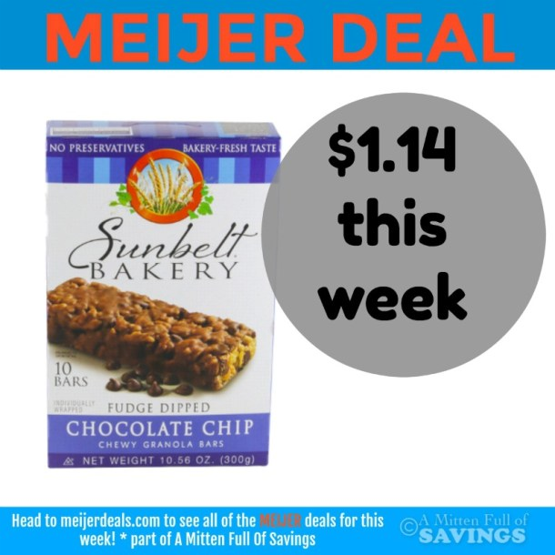 Meijer: Sunbelt Bars $1.14 This Week