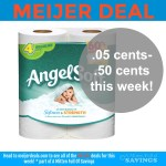 Meijer Deal: Angel Soft Toilet Paper as low as .05 cents- .50 cents