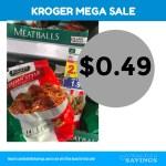 Kroger MEGA: Cooked Perfect Meatballs Just 49 cents #stockup