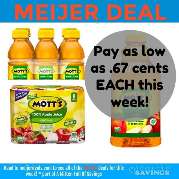 Meijer: Mott's Juice Deals This Week .67- $1.17 this week!