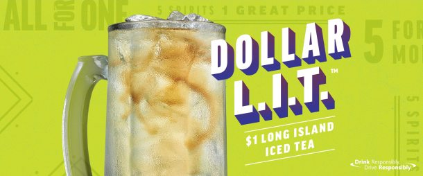 Dollar L.I.T at Applebees