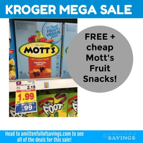FREE + CHEAP Betty Crocker Fruit Snacks w/ Kroger MEGA sale