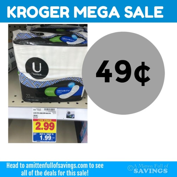 Kroger MEGA deal on U by Kotex products