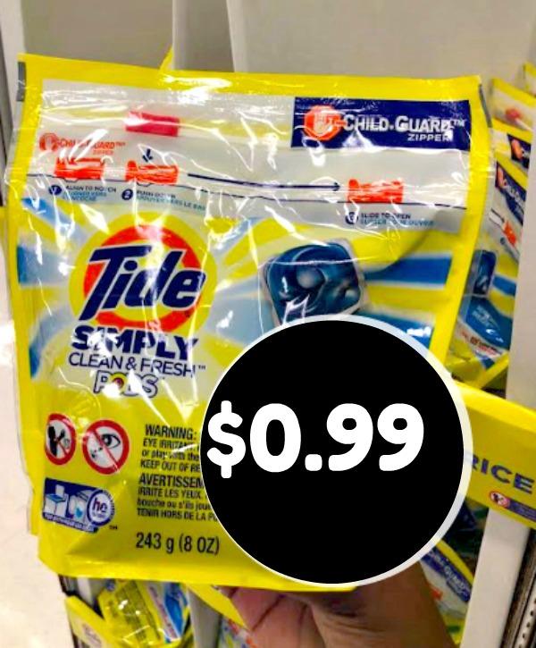 Meijer: Tide Simply Detergent $0.99