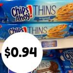 Kroger MEGA: Nabisco Chip Ahoy Thins- $0.94