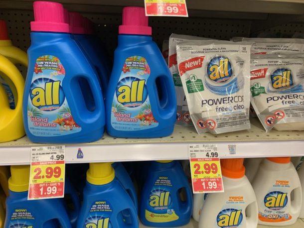 Kroger Deals: All Laundry Detergent $0.99 #stockup deals