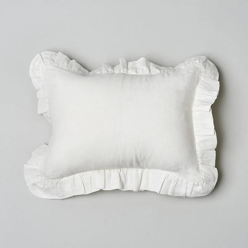 caprice linen lumbar pillow ivory amity home