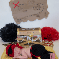 Newborn Baby Boy Pirate Photo Prop Costume by AMKCrochet.com